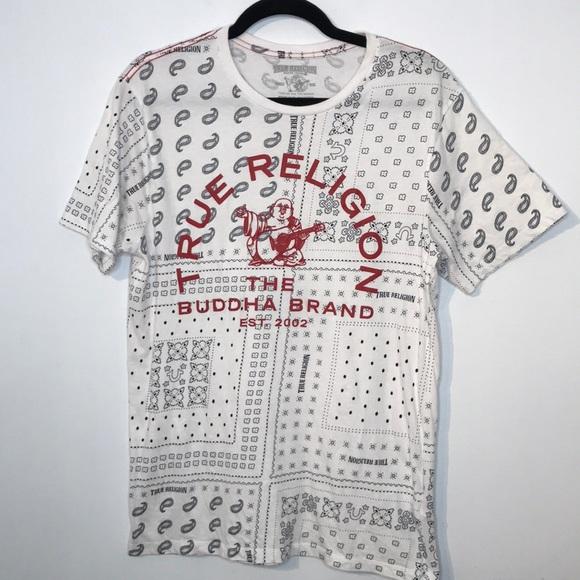 True religion bandana buddha t-shirt